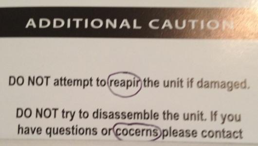 Warning Typo