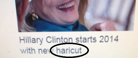Haircut Headline Typo